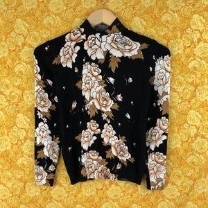 Vintage Floral Wool Sweater